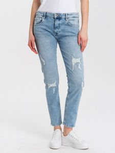 Cross Jeans Damen Hose Jeans P 491-049-GWEN light blue destroyed 29