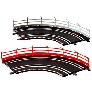 Carrera GO!!! Fangzaun 5 Stück weiß / 5 Stück rot, 1Set