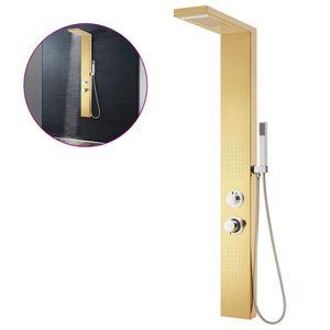 vidaXL Duschpaneel-System Edelstahl 201 Golden