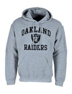NFL Football Hoodie Kapuzenpullover Oakland Raiders Chicago Bears schwarz grau Grau L