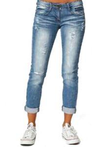 y Dance Frauen Lässige Jeans Stretchjeans Classic Denim Bleistifthose Stretchhose ,Farbe:Blau,Größe:M