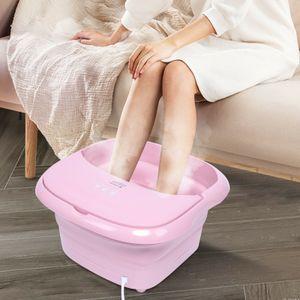 Fußmassagegerät Faltbare Fußbad-Massagegerät Fußsprudelbad Massage Fussbadewanne Fußbad Rosa