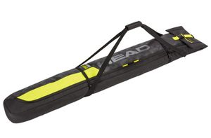 Head Single Ski Bag Ski Tasche 174 cm bis 194 cm für 1 Paar Ski schwarz gelb