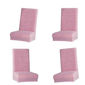 4 Stück Weiche Elastische Stretch Stuhlhussen Stuhlbezug Sitz Schutz für Hochzeit Haus Hocker Stuhl