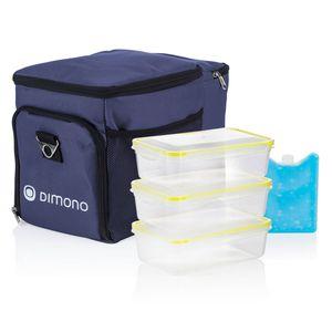 Picknicktasche - Kühltasche 3 in 1 Set mit passenden Frischhaltedosen 2.0 - Blau