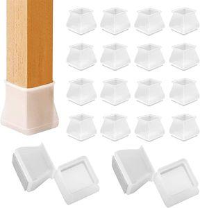 32x Silikon Stuhlbeinkappen Eckig Tische Stuhlkappen Stuhlbeinschutz Verhindert Kratzer für Tischbein 3.5cm bis 4.5cm