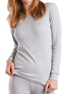 MT® Damen Thermo Langarmhemd Sports Grey-M