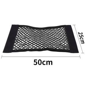 Auto Aufbewahrungstasche Auto Dekor Universal 50 * 25cm Schwarz Flexible Double Layer Net Pocket Sitzlehne