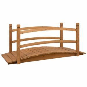yocmall Gartenbrücke 140x60x60 cm Massivholz Tanne