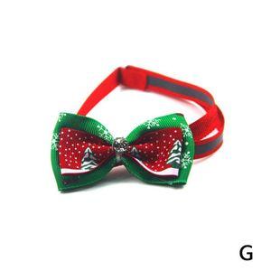 2xCute Weihnachten Haustier Hund Katze Welpen Fliege Kragen Bowtie Einstellbare Krawatte