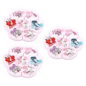 7 Paare Clip Mädchen Ohrringe Prinzessin Klipp Ohrring Set Mit Box Dress up Prinzessin Schmuck Zubehör für Kinder