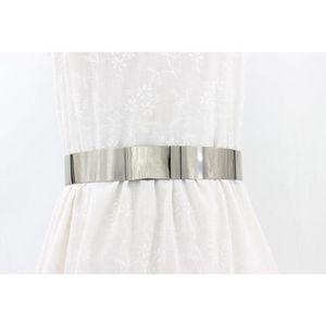 Stilvolle Bund Platte Ketten Taille  Metall Gürtel Spiegel Breite Gold Bun 66cm Silber Taillengürtel Taillenplattenketten