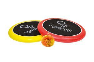 Schildkröt Ogo Sport Set, 2 Ogo Softdiscs Ø29cm, rot und gelb, 1 Ball, Standardgrösse, neue Farbe, der beliebte Spiel-Klassiker