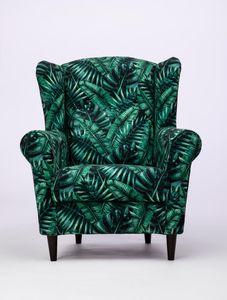 Wohnzimmersessel Sessel LORD Skandinavisch Tropenblätter Komfort Schaumstoff