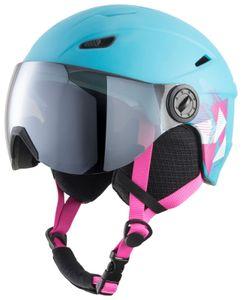 TecnoPro Kinder Ski-Helm Skihelm Pulse JR S2 blau, Größe:S