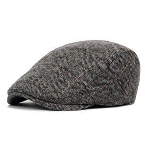 Baskenmütze Kappen Männer Flache Kappe Herbst Winter Baskenmütze Kappe Woll
