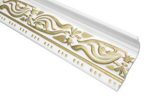 2 Meter | Zierleiste Zierprofil Deckenleiste | 46x89mm | M-24 GOLD