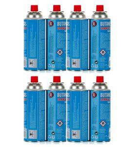 8 Stück Butangaskartuschen Gaskartuschen je 227g für Campingkocher, Unkrautvernichter Unkrautbrenner, Butan Gas