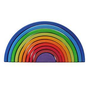 Holz Regenbogen Stapelung Stapler Kleinkind  Stapelspiel Steckspiel Pädagogisches Spielzeug