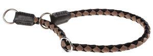 slip-Halsband Hunde Twist 60 cm Nylon schwarz/braun