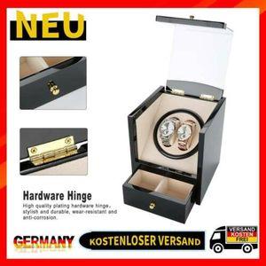 Uhrenbeweger Uhrenbox fr 2+2 Uhren Watchwinder Automatisch Uhrendreher Koffer