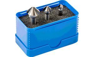 PFERD SET KES HSS DIN 335 C90° 3, Stahl, Eisenguss, Nicht-eisenhaltiges Metall, Edelstahl, Aluminium, Hochgeschwindigkeitsstahl (HSS)