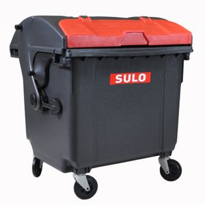 Sulo Mini Müllcontainer Tischeimer, Grau/Rot