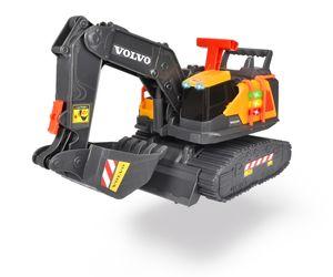 Dickie Toys Volvo Spielzeug Bagger, mit Wiegefunktion, Weight Lift Excavator, erkennt 3 verschiedene Gewichtsstufen, bewegliche Schaufel und Schaufelarm, Licht & Sound, inkl. Batterien, 30 cm