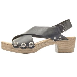 rieker Damen Absatz-Sandalen Schwarz Schuhe, Größe:38
