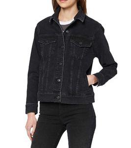 LTB Mona Jeans-Jacke coole Damen Frühlings-Jacke mit seitlichen Eingrifftaschen Schwarz, Größe:XS