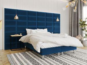 Mirjan24 Boxspringbett Lux für Wandpaneel, Doppelbett mit Matratze, Schlafzimmer (Farbe: Manila 26, Größe: 180x200 cm)
