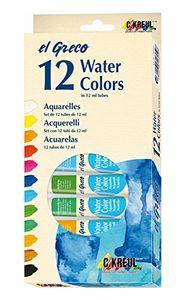 KREUL Aquarellfarbe el Greco, 12 ml, 12er-Set, Menge 1