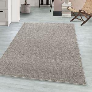 Teppium Kurzflor modern Teppich, Wohnzimmerteppich, Rechteckig, Farbe:BEIGE,160 cm x 230 cm