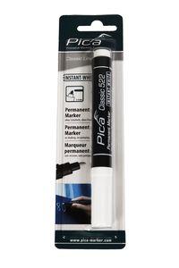 Pica Classic instant white Permanent Marker weiß, Rundspitze 1-4 mm