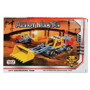 Alloy Blocks Kinder Metall Baukasten Bautechnik 103 Teile Spielzeug