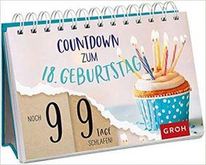 Countdown-Kalender, um die Tage bis zum 18. Geburtstag zu zÜhlen