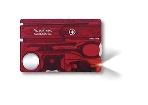 "Victorinox Swisscard Lite"" 13 Funktionen, Rubin transparent"" Mittelrot"