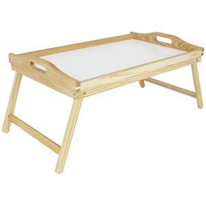 Frühstückstablett Holz Betttablett Frühstückstablett klappbar Serviertablett Holztablett rechteckig Tablett