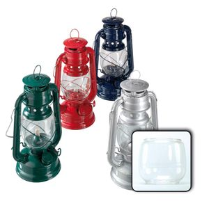 Happy People Petroleumlampe, Öllampe mit feuerfestem Glas, Höhe ca. 24 cm, farblich sortiert, 1 Stück