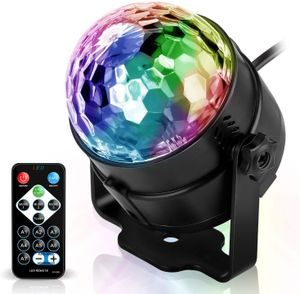 Discokugel Discolicht Partylicht, Disco Licht Lichteffekte 7 Farbe Musikgesteuert LED DJ Licht Partybeleuchtung Party Lampe Dekoration