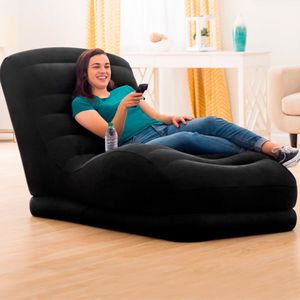 Intex Inflatable Velvety Chair Black One Size