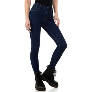 Ital-Design Damen Jeans High Waist Jeans Dunkelblau Gr.m/38
