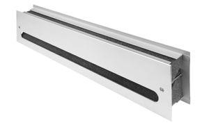 Schalldämmendes Lüftungsgitter Türlüftung Metall EN ISO 717-1 Silber F1 eloxiert