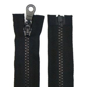 Reißverschluss Kunststoff 5mm teilbar 70 cm Schwarz