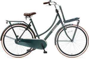 Popal Transportfahrräder Damen Daily Dutch Basic 28 Zoll 57 cm Damen Rücktrittbremse Dunkelgrün