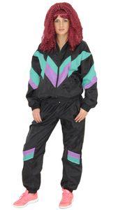 80er Jahre Premium Trainingsanzug für Damen, Größe:S