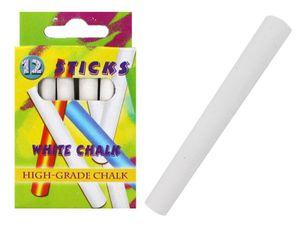 12 Stück Kreide Straßenmalkreide weiß (in Box ca. 10x6x2cm)