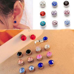 12 Paar magnetische Ohrringe Mehrfarbig 4mm Zucht