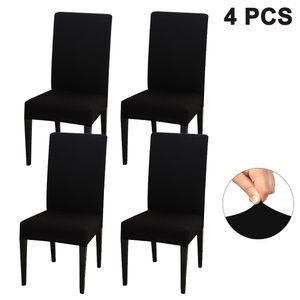 Elastischer Stuhlbezug, Stuhlhussen Stretch, Stuhlhusse Kaufen, Stuhlhussen 4er Set Abnehmbare Waschbar Stuhlbezug Langlebig Universal