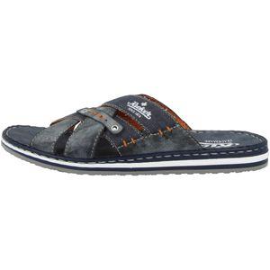 Rieker 21599-14 Herren Schuhe Clogs  Pantoletten Weite G, Größe:44 EU, Farbe:Blau